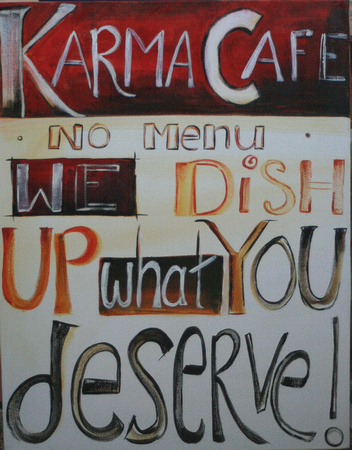 Karma Cafe - available through 4 Art Sake Gallery, Ohope.